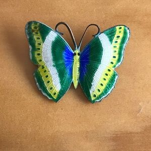 Colorful enamel butterfly pin/brooch
